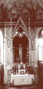 Скульптура Приснодіви Марії у вівтарі. 20-ті роки ХХ століття